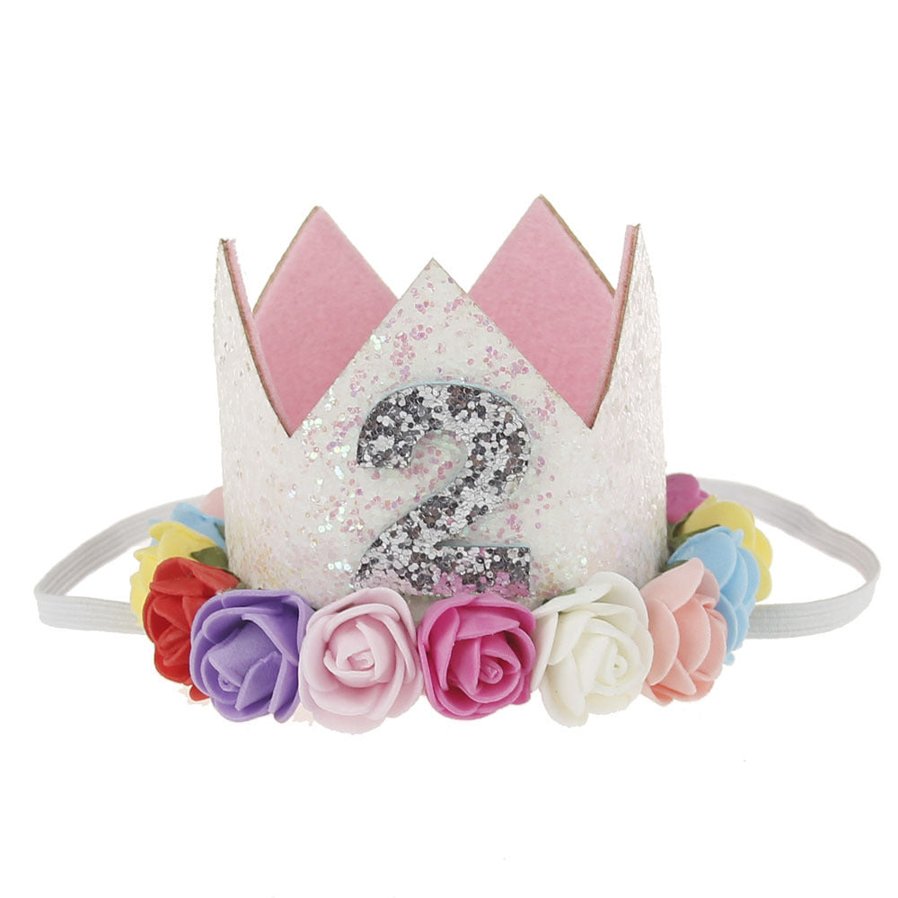 Flower Crown Baby Hair Band Colour My Party