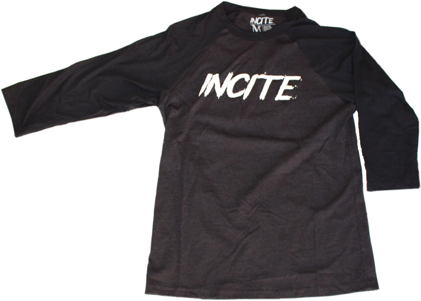 Incite Baseballs Tee Black/Heather Black