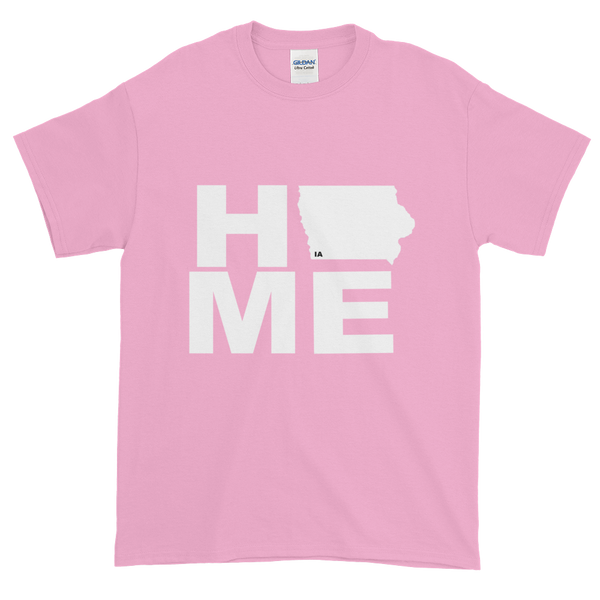Iowa is Home! White Logo Tee