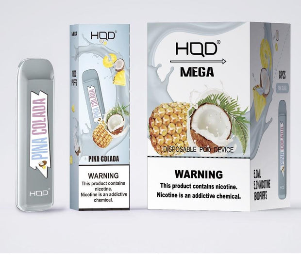 HQD MEGA DISPOSBALE 1800 PUFFS VAPE