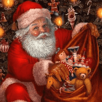 Bag of Goodies  Santa Claus Christmas - 5D Diamond Painting - 5D Diamond Painting - DIY Kits