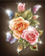 Illuminating Roses - 5D Diamond Painting - 5D Diamond Painting - DIY Kits