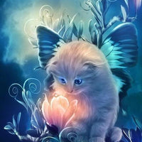 Butterfly Kitten - 5D Diamond Painting - 5D Diamond Painting - DIY Kits