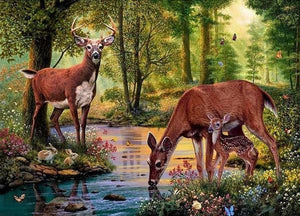 My Deer Family - 5D Diamond Painting - 5D Diamond Painting - DIY Kits