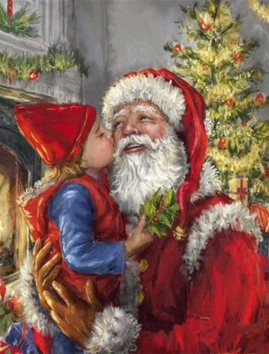 Christmas Kiss - 5D Diamond Painting - 5D Diamond Painting - DIY Kits