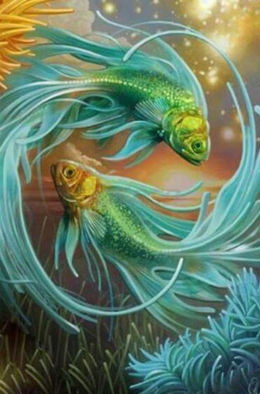Flowing Fish - 5D Diamond Painting - 5D Diamond Painting - DIY Kits