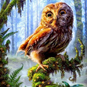 Mischief Owl - 5D Diamond Painting - 5D Diamond Painting - DIY Kits