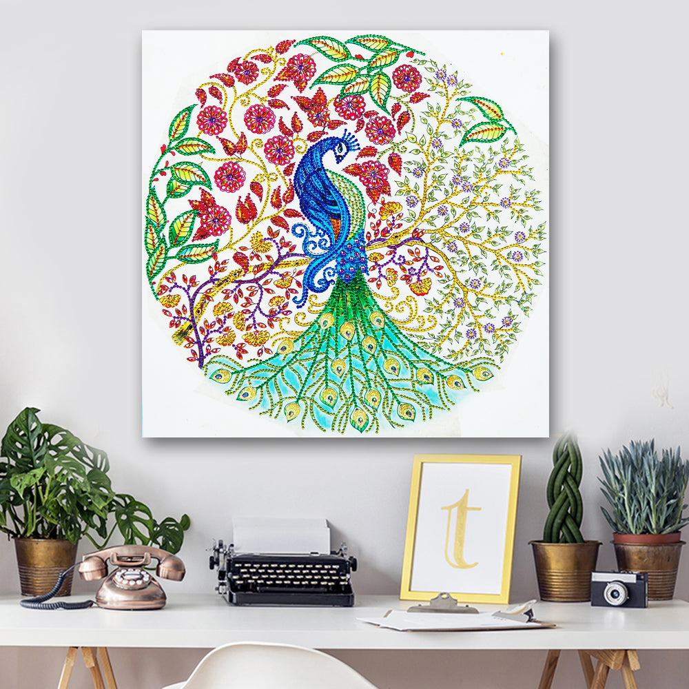 Gemstone Peacock - 5D Diamond Painting - DIY Kits