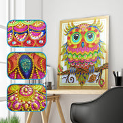 Gemstone Owl - 5D Diamond Painting - DIY Kits