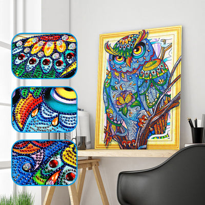 Abstract Owl - 5D Diamond Painting - DIY Kits