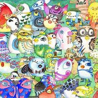 Michelangelo Wooden Jigsaw Puzzle 500 Piece Cartoon Animal Chinese Culture Wall Painting Art Kid Educational Toy Gift Home Decor - 5D Diamond Painting - DIY Kits