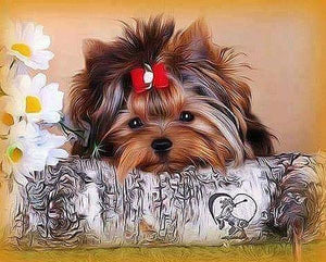 Puppy Dog  - 5D Diamond Painting - 5D Diamond Painting - DIY Kits