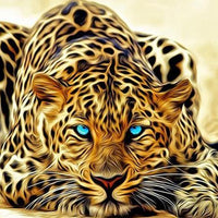 Lazy Leopard - 5D Diamond Painting - 5D Diamond Painting - DIY Kits