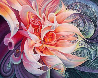 Fractal Petals - 5D Diamond Painting - 5D Diamond Painting - DIY Kits