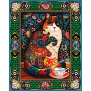 Abstract Feline Cat - 5D Diamond Painting - 5D Diamond Painting - DIY Kits