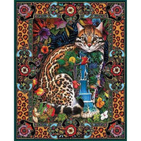 Abstract Jungle Cat - 5D Diamond Painting - 5D Diamond Painting - DIY Kits