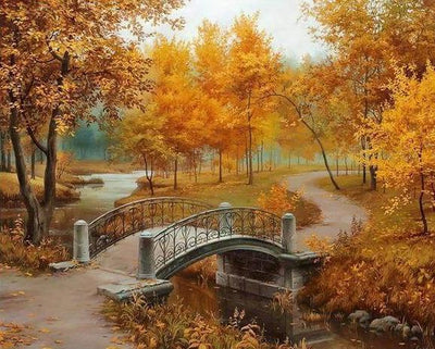 Autumn Overcast Scenery Landscape  - 5D Diamond Painting - 5D Diamond Painting - DIY Kits
