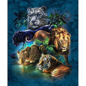 Cats of Prey - 5D Diamond Painting - 5D Diamond Painting - DIY Kits