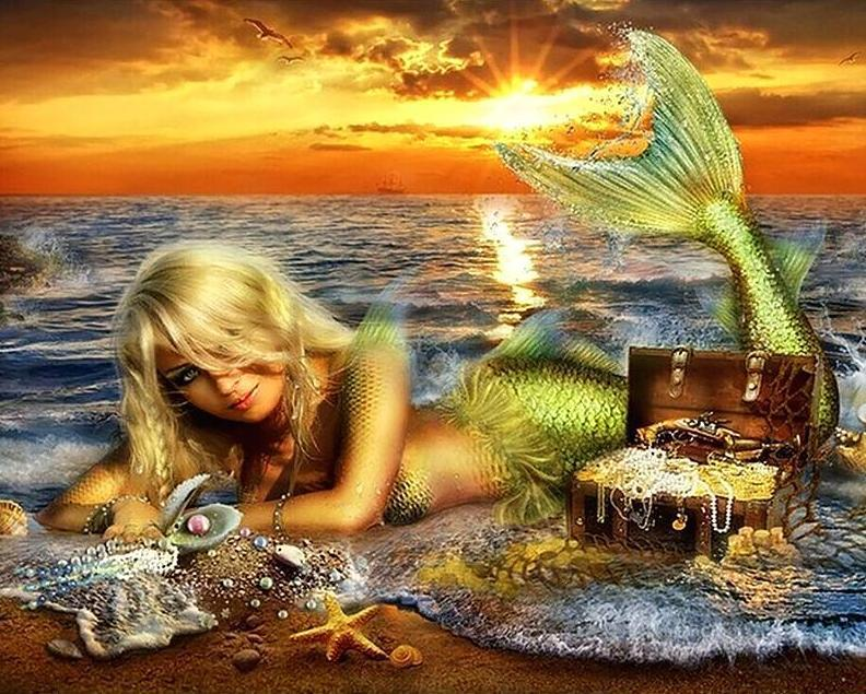 Mermaid - 5D Diamond Painting - 5D Diamond Painting - DIY Kits