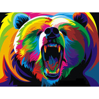 Grizzly Intimidation - 5D Diamond Painting - 5D Diamond Painting - DIY Kits