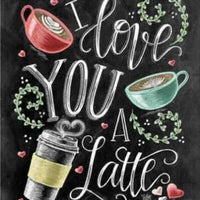 Love You Latte - 5D Diamond Painting - 5D Diamond Painting - DIY Kits
