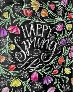 Happy Spring - 5D Diamond Painting - 5D Diamond Painting - DIY Kits