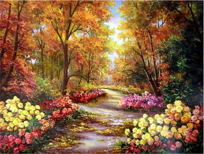 Autumn Adventure Scenery Landscape - 5D Diamond Painting - 5D Diamond Painting - DIY Kits