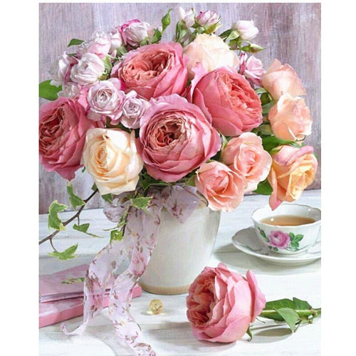 Blushed Flowers - 5D Diamond Painting - DIY Kits