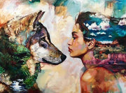 Wolf and Girl - 5D Diamond Painting - 5D Diamond Painting - DIY Kits