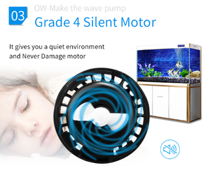 Jebao OW-40 Aquarium wave maker Reef Fresh water controllable marine saltwater planted tank monsterfish large small nano tanks
