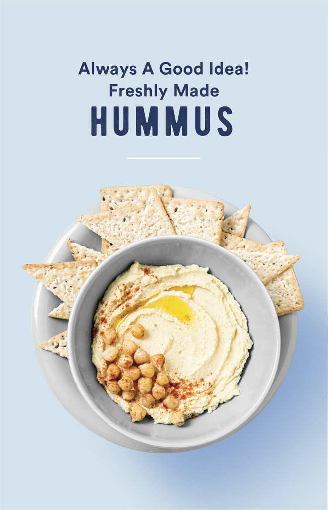 Chickpeas, Tahini, Olive Oil and all the good things: Freshly made Hummus and more