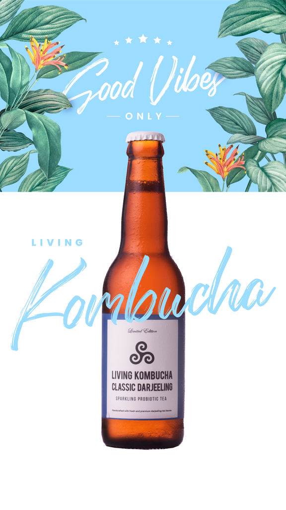 Good Vibes Only: Refreshing Living Kombucha