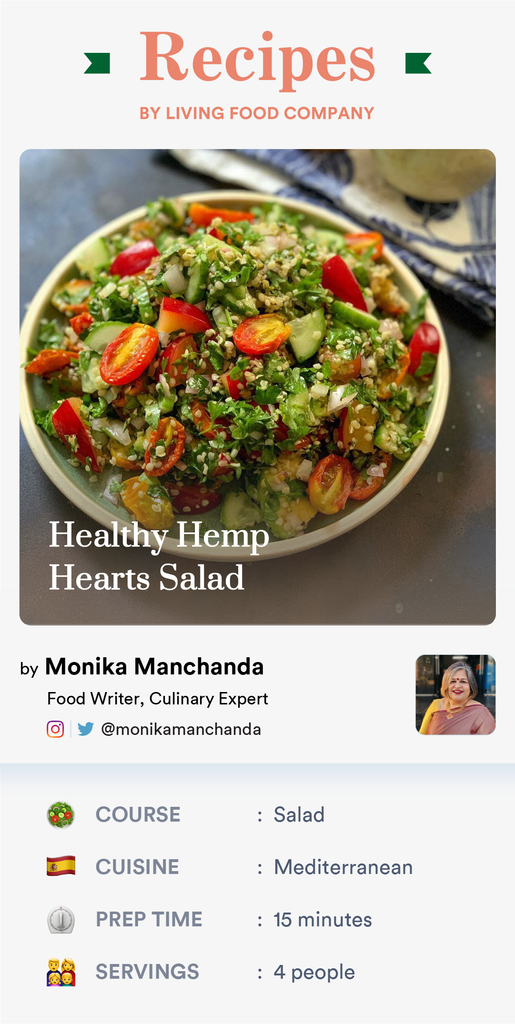 Microgreens and Hemp seeds Salad