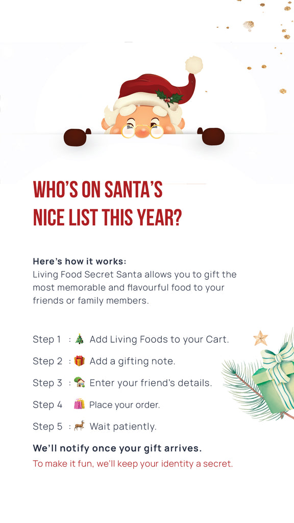 Play Secret Santa With Living Food Company