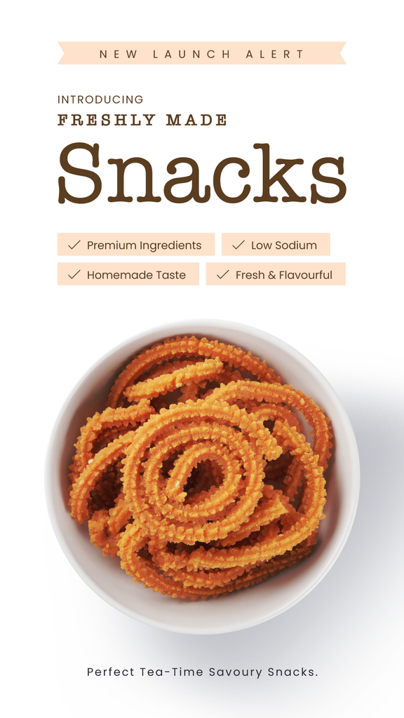 Introducing Freshly Made Snacks: Crispy, Crunchy, Savoury Treats.