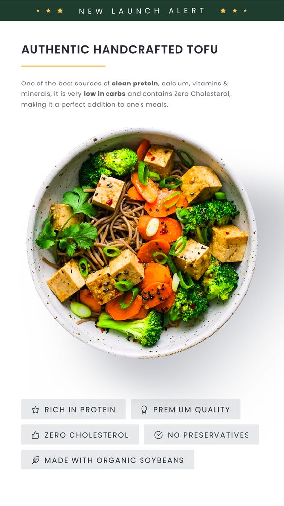 Introducing: Authentic Handcrafted Tofu
