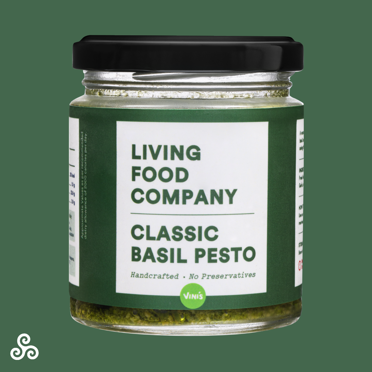 A premium handcrafted Pesto with fresh Basil, Pine nuts, Parmesan cheese, blended to perfection with Extra Virgin Olive Oil.