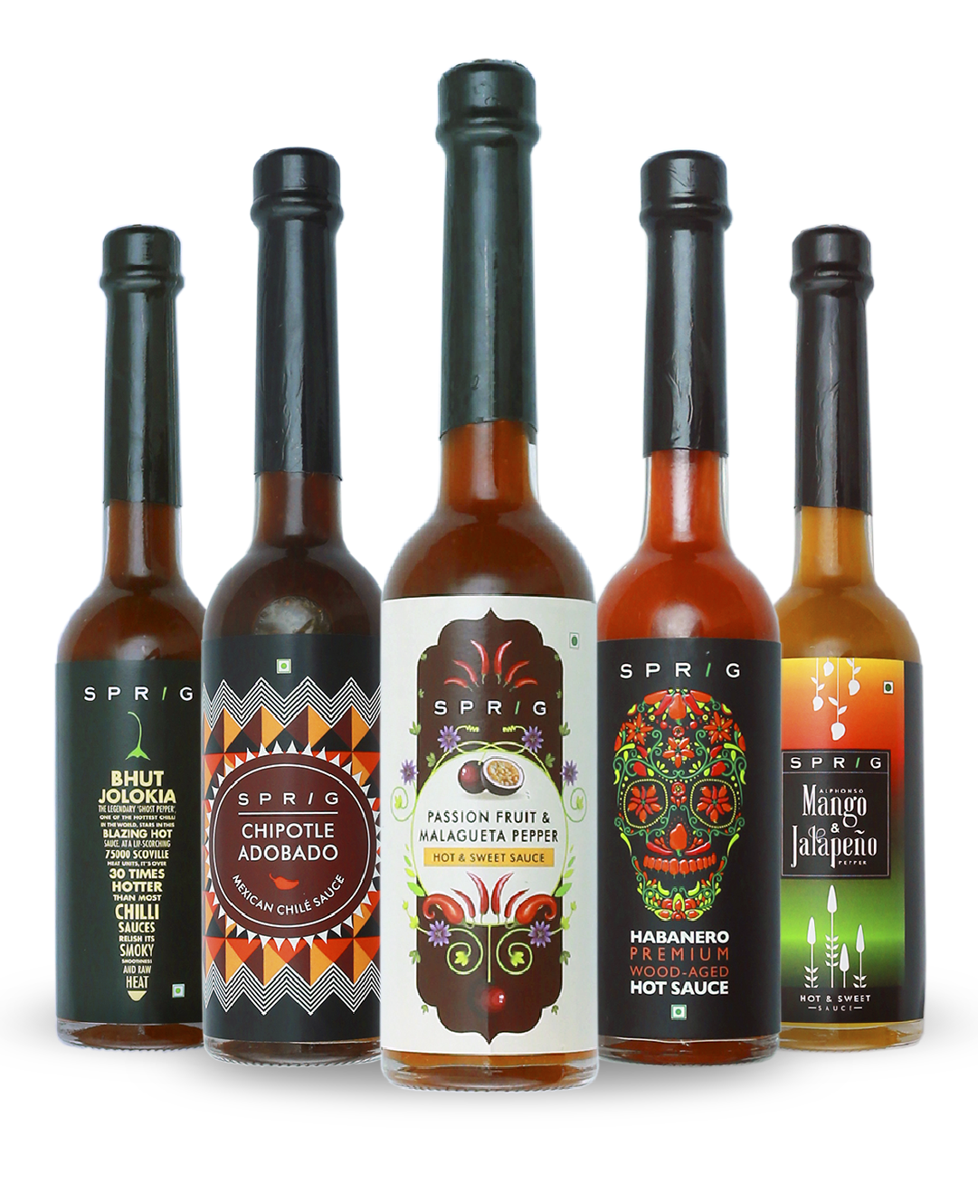 A range of Premium Sauces with award-winning flavours from around the world. Take your pick from Habanero Hot Sauce, Mango Jalapeno, or Passion Fruit Pepper Sauce.