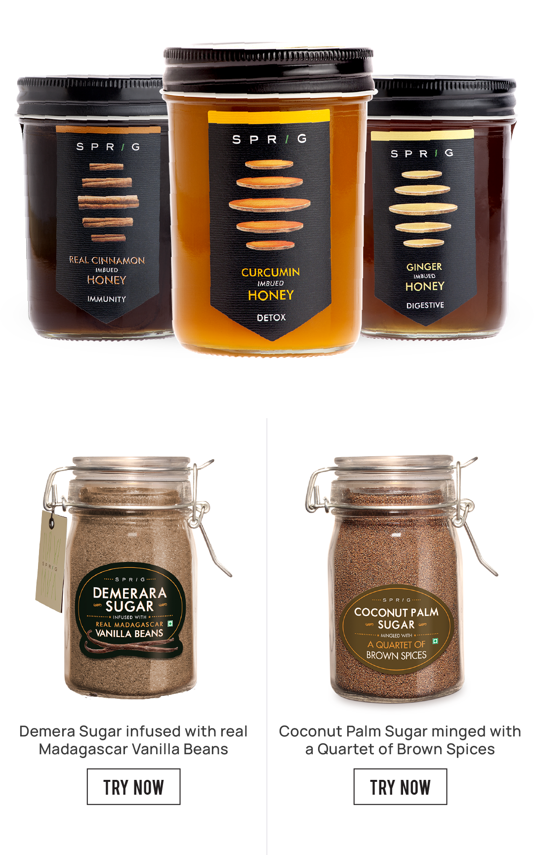 Infused honey-and-natural-sugars