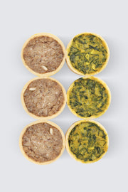 Vegan Quiche Assorted - Freshly Baked (Box of 6)