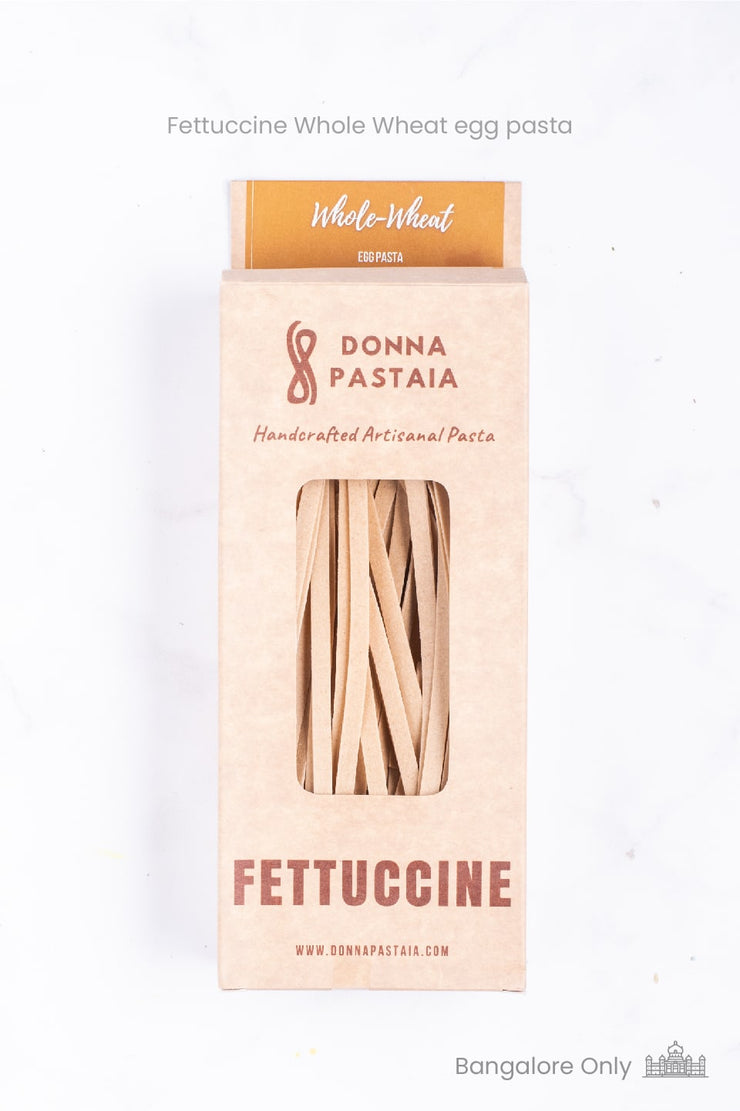 Handmade Fettuccine Pasta - Organic Whole Wheat