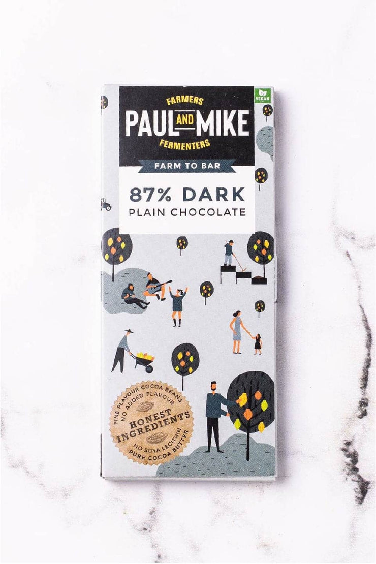 Vegan Plain Dark Chocolate - 87% Dark
