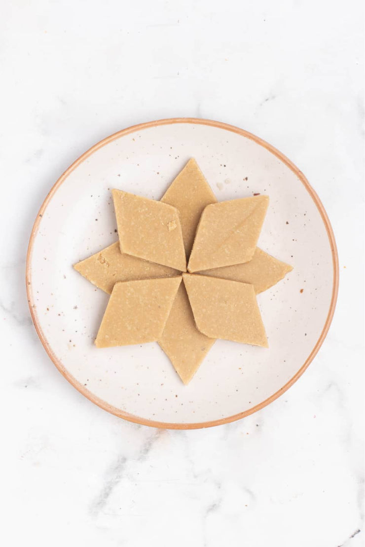 Kaju Katli (Vegan, Gluten-Free and Sugar-Free)