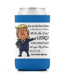 Donald Trump Father's Day Beer Sleeve