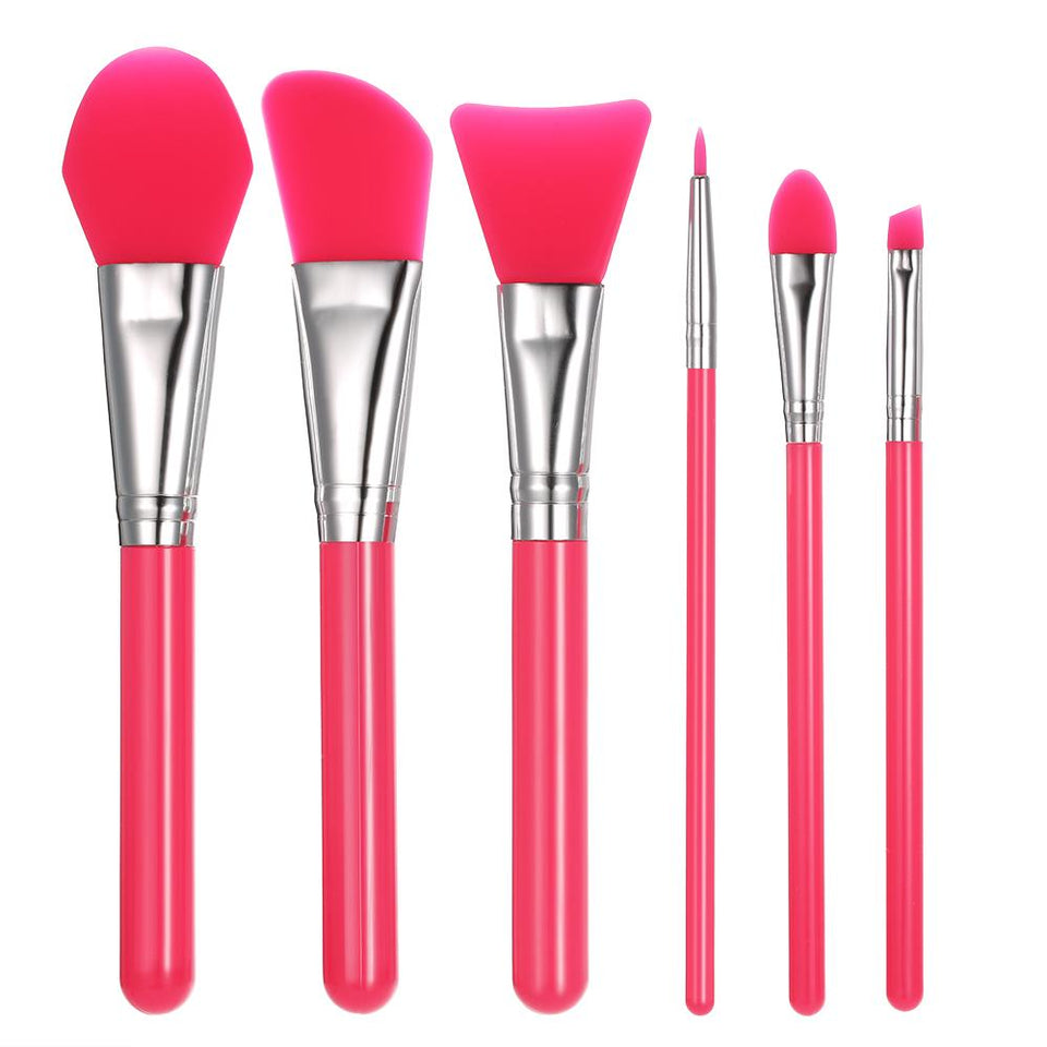 6-Piece Silicone Makeup Brush Set