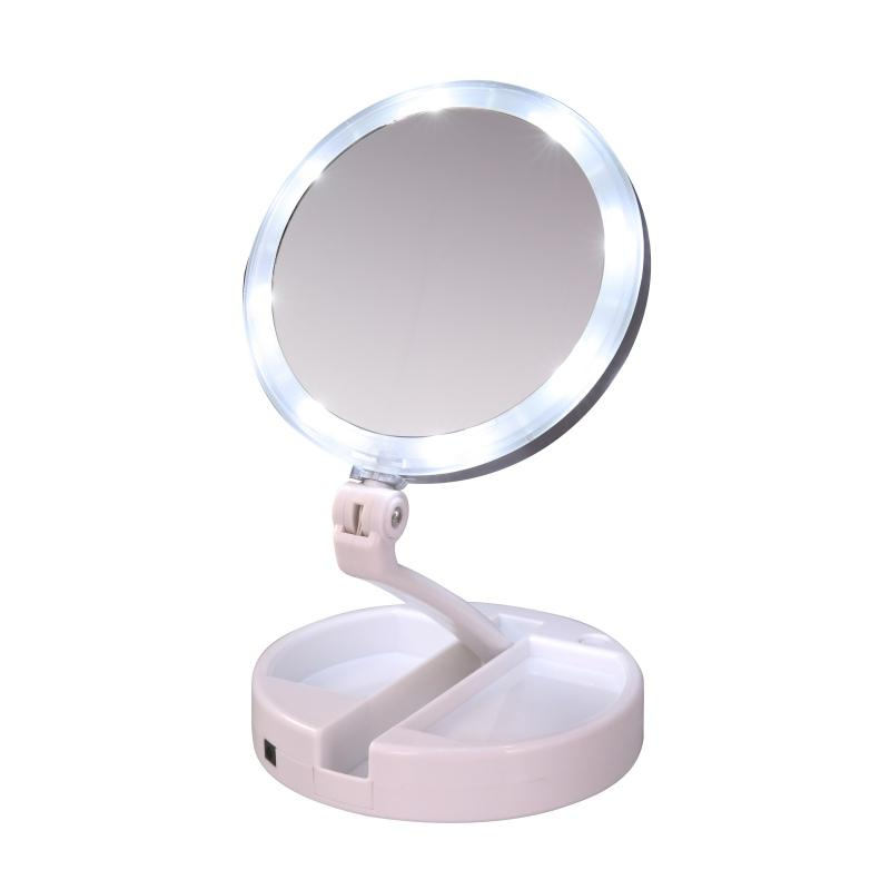 LED Lighted Folding Vanitity and Travel Mirror