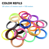 Ultimate Refill for 3D PEN - 100 Meters (20 Colors)