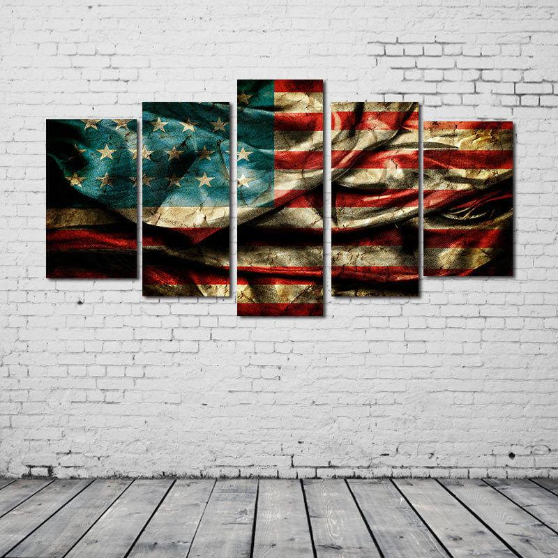 Patriotic Flag Canvas Set