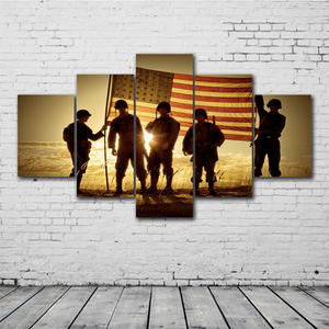 Soldiers Flag Canvas Set