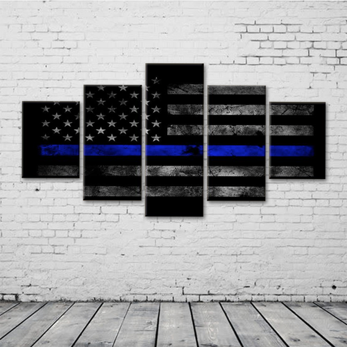 Thin Blue Line (Police) Flag Canvas Set